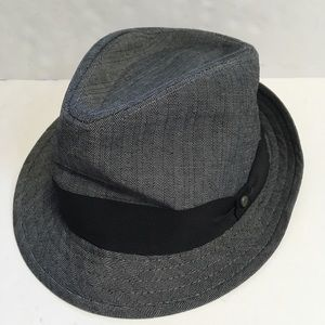 STETSON All American Fedora Gray Black Hat 2XL
